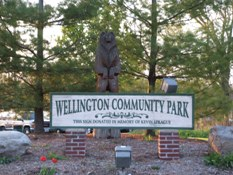 Wellington community park sign jpg